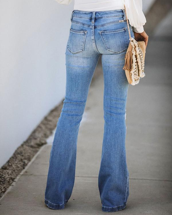 Holiday Ripped Denim Pants