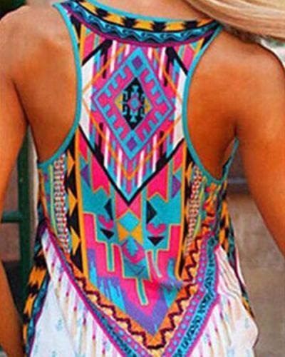 Summer Sleeveless Printed Casual Top