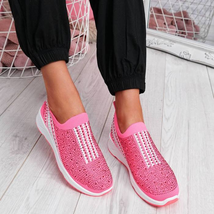 Fly-Woven Fabric Sneakers