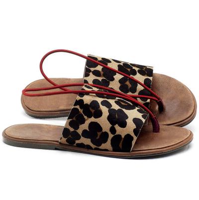 Creative Leopard Round Toe Flat Slippers