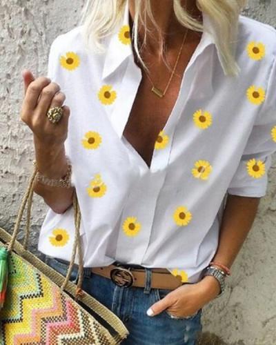 Floral-Print Floral Shift Boho Shirts & Tops