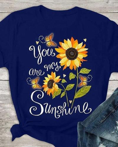 Casual Short Sleeve Print Shirts & Tops