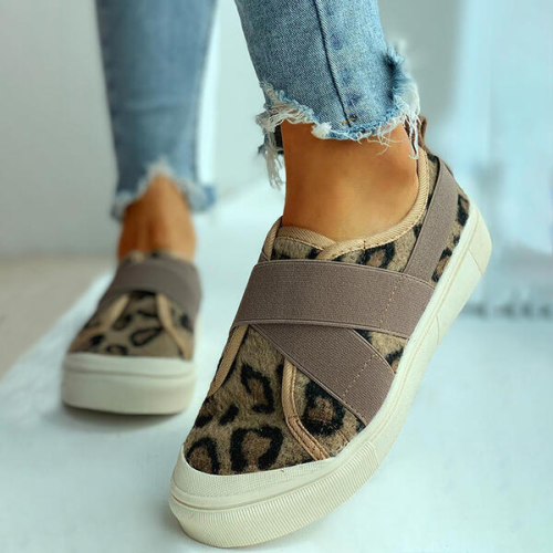 Women Suede Canvas Casual Outdoor Athletic with Elastic shoes