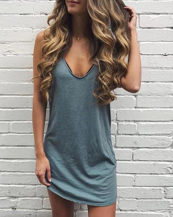 Leopard Lip Print Casual Dress