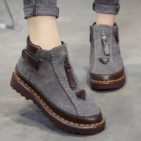 Womens New Style Chelsea Platform Flat Bottom Martin Ankle Boots
