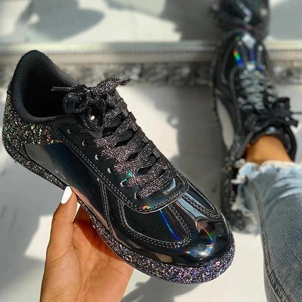 Laser Cool Lace-Up Sneakers