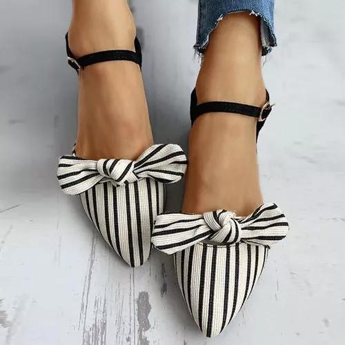 Women's Bowknot Flats Leatherette Low Heel Flats