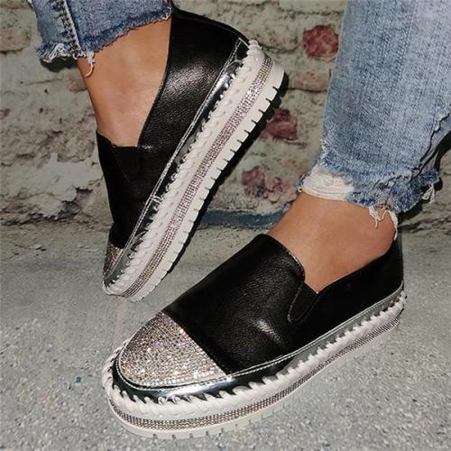 Women Casual Big Non-slip Rhinestones Sneakers