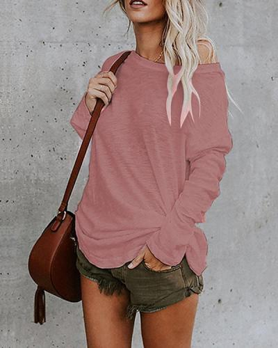 Women's Casual Solid Blouses Tops