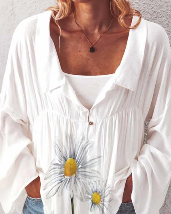 Fashion casual printed shirt