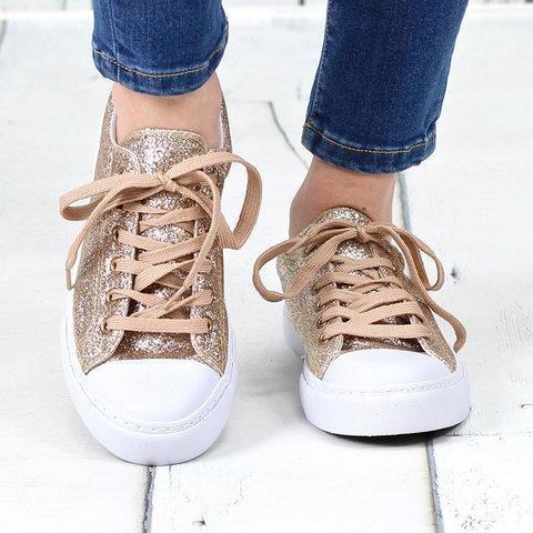 Artificial Leather Flat Heel Hiking All Season Sneakers