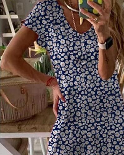 Floral Print Hem Split Maxi Dress
