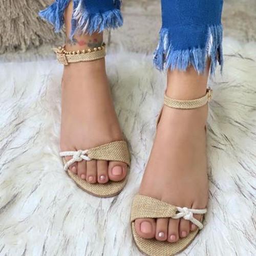 Women Summer Buckle Flat Sandals