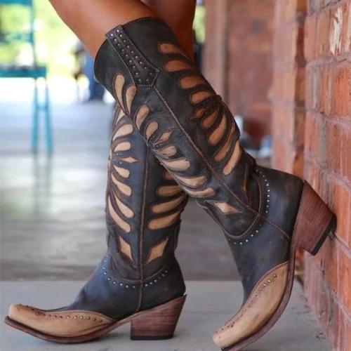 Fashion Kitten Heel Pu Winter Casual Boots