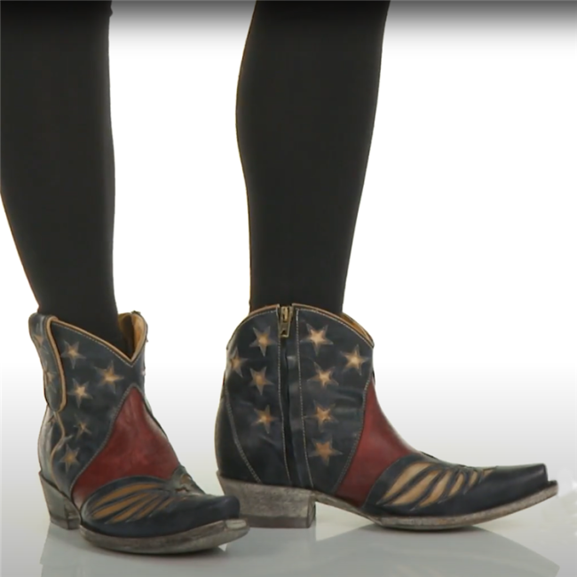 Vintage Star Cowboy Ankle Boots