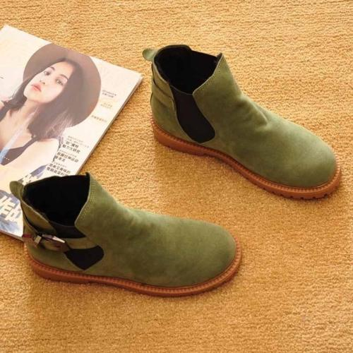 Flat Shoes Winter Spring Ankle Snow Boots Motorcycle Boots