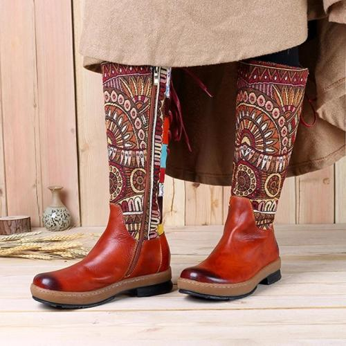 Women's Boot - Retro  Motorcycle Boots