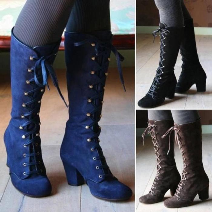 Women Fashion Steampunk Gothic Vintage Style Retro Punk Boots