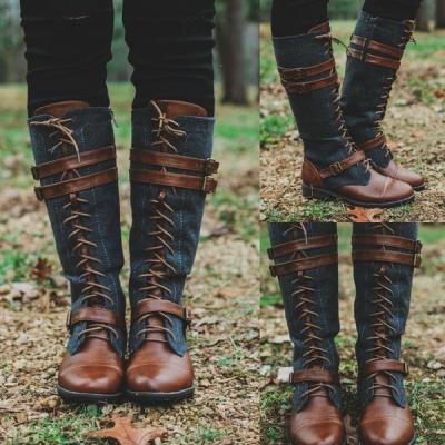 Round Toe Fashion Knee-High Boots