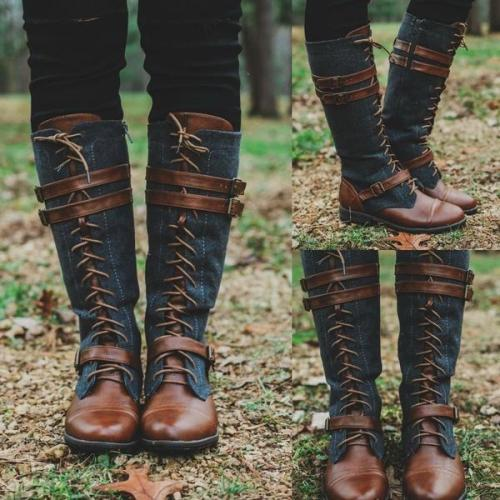 Round Toe Fashion Knee-High Boots