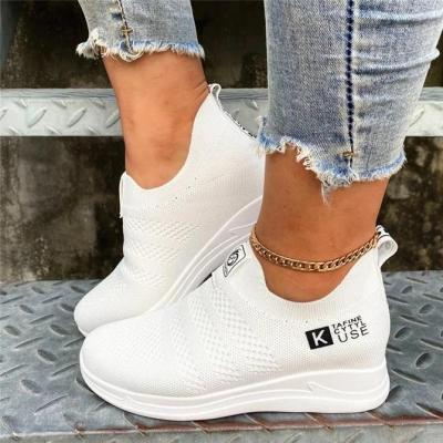 Flat Heel Fabric Sneakers