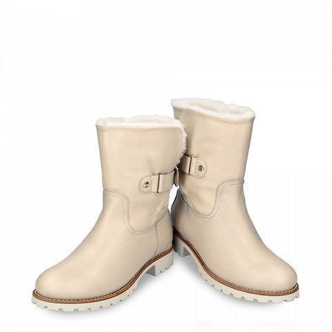 Warm Fur Lined Booties Blocking Hook-Loop Boots