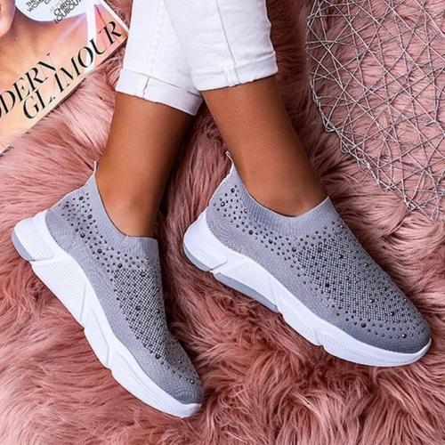 Rhinestone Fabric All Season Party & Evening Sneakers