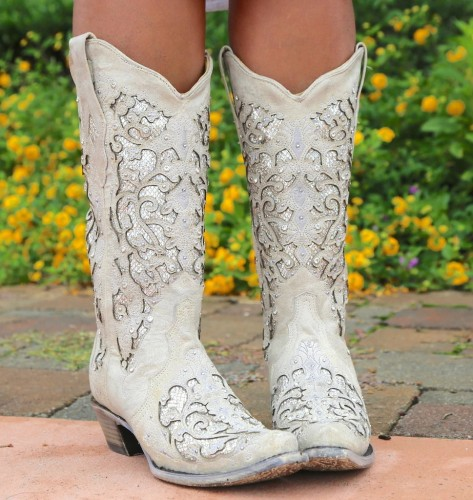 Women Hollow Carved Glitter Inlay Crystals Boots