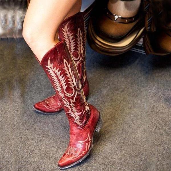 Women Mid-Calf Vintage Boot Shoes
