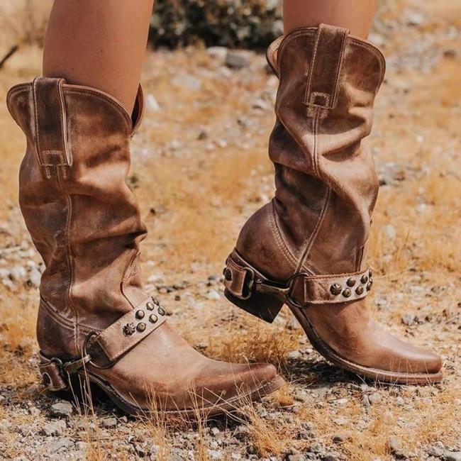 Euramerican Style Side Zipper Kitten Heels Buskins Boots