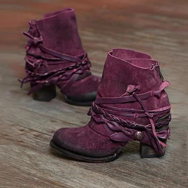 Women's Casual Zipper Booties