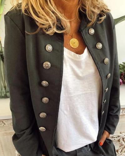 Solid Color Casual Jacket