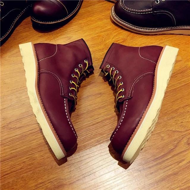 Men's Handmade Work Travel Wedding Casual Boots