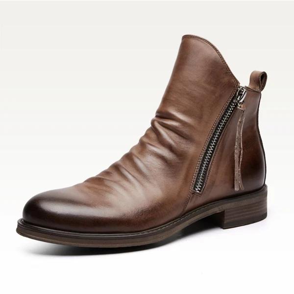 Men's Original Design Genuine Leather Retro Boots