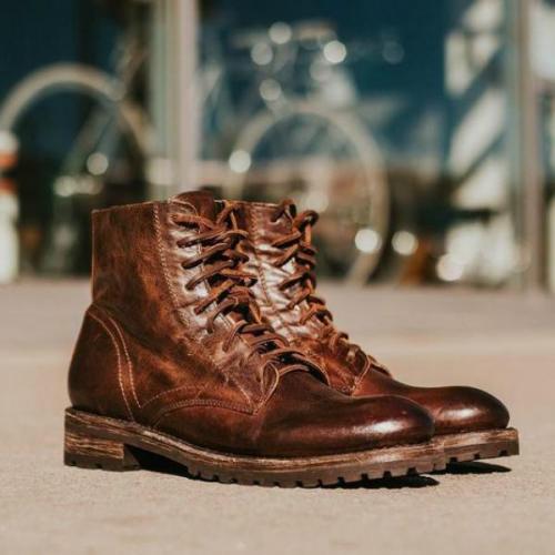 Men's Retro Leather Martin Shoes