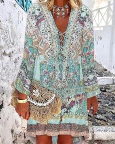 V Neck Women Dresses Holiday Dresses