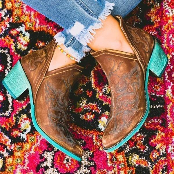Vintage Embroidered Dream Boots