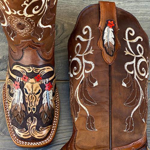 Women's Custom Hand Tooled Boots