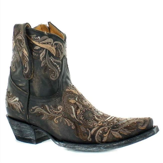 Women VIntage Side Zipper Pointed Toe Boots