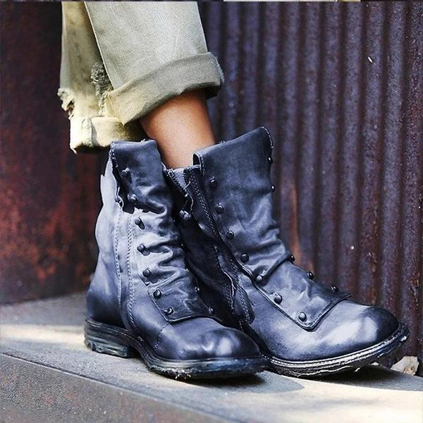 Solid Color Fashion Martin Boots