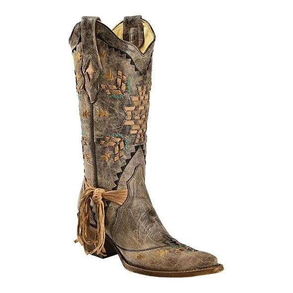 Woven Cowgirl Boots
