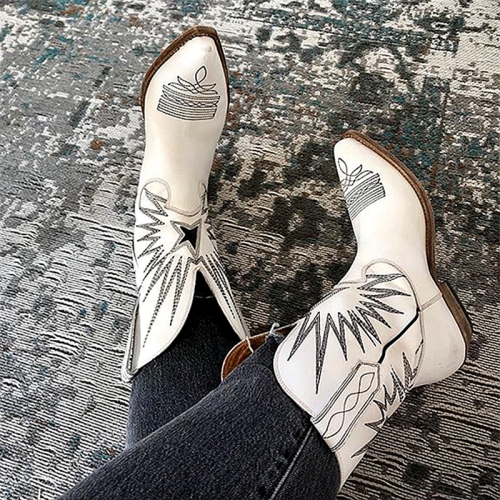New Brand Western Embroidered Cowgirl Boots