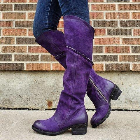 Vintage Style Suede Winter Boots
