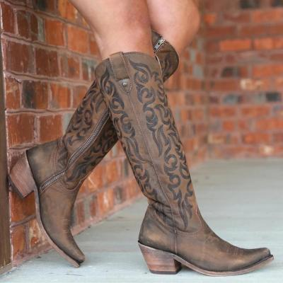 Vintage Low Heel Pointed  Toe Boots