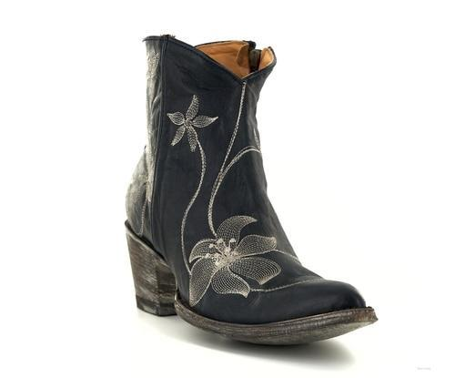 Womne Black Side Zipper Ankle Boots