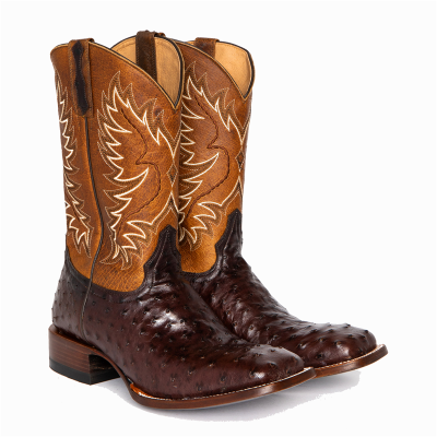 Men's Full Quill Ostrich Exotic Boots