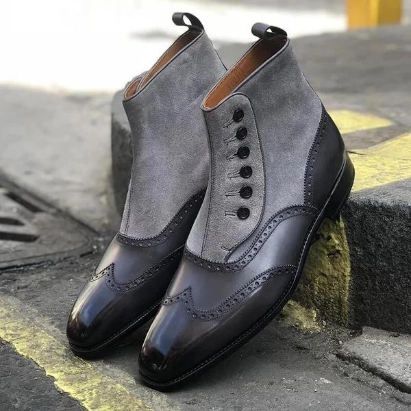 Fashion Wild Casual Men's Short Boots Four Color