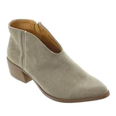 Women Deep V Sexy Boots Casual Comfort Zipper Shoes