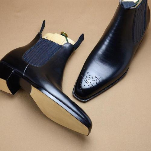 Men's Leather Dress Formal Chelsea Boots