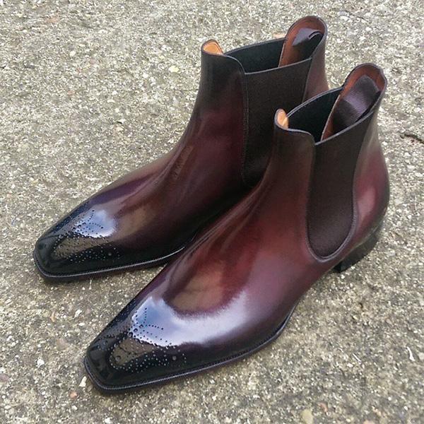 Men's Leather Dress Formal Chelsea Boots